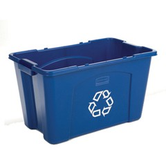 18 Gallon Recycling Trash Box, Blue