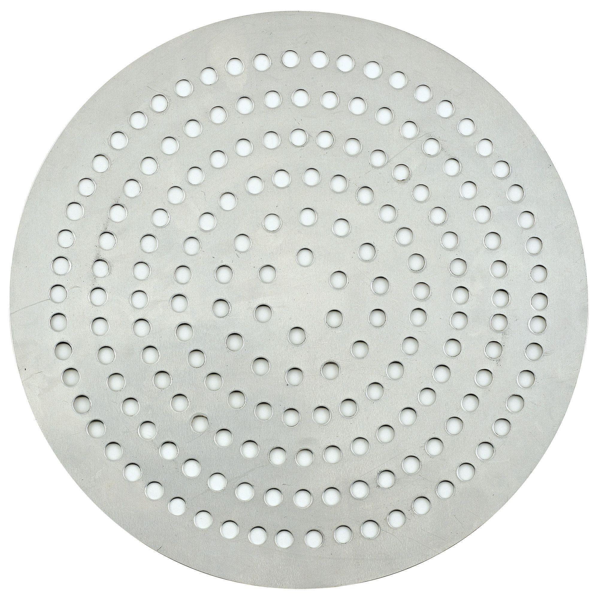 """Winco APZP-19SP 19"""" Aluminum Super-Perforated Pizza Disk"""