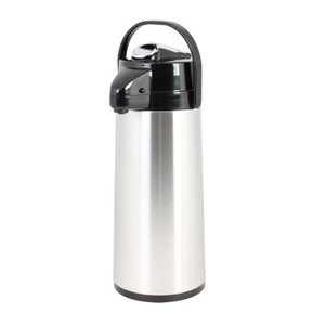 Thunder Group ASLG025 Glass Lined Stainless Steel Airpot with Lever Pump 2.5 Liter