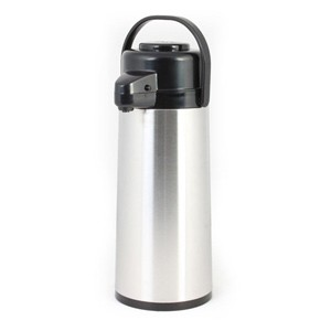 Thunder Group ASPG025 Glass Lined Stainless Steel Airpot with Push Button 2.5 Liter