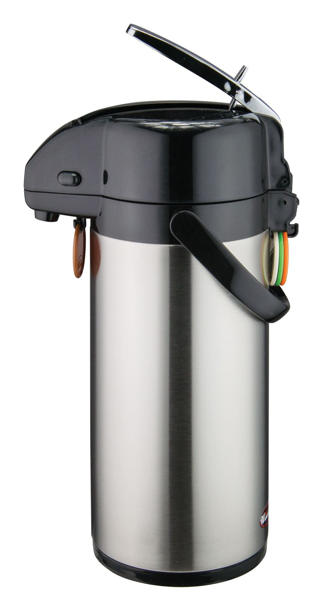 Winco APSK-725 Stainless Steel Lined Airpot with Lever-Top   2.5 Liter