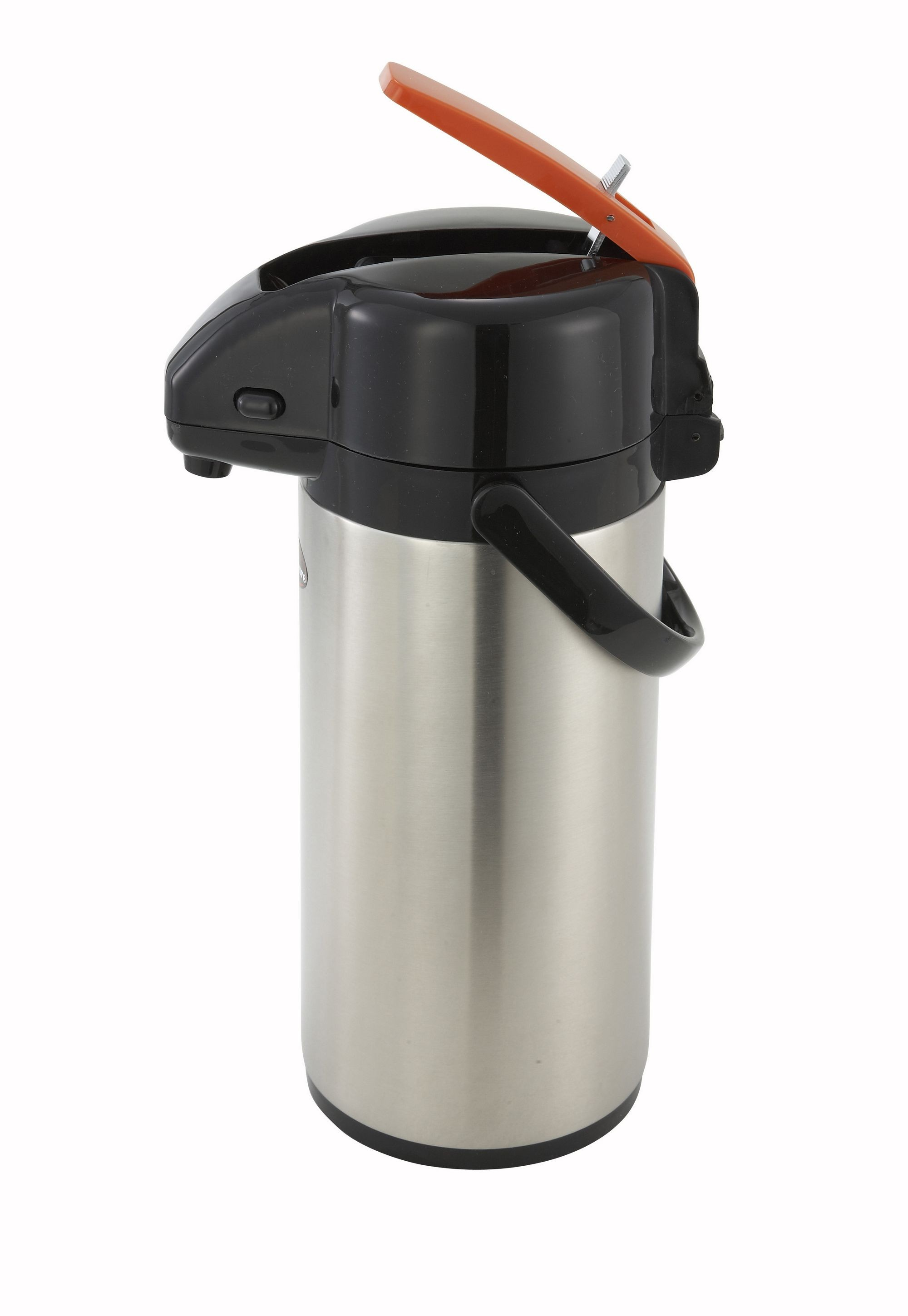 Winco APSK-725DC Stainless Steel Lined Decaf Airpot with Lever-Top  2.5 Liter