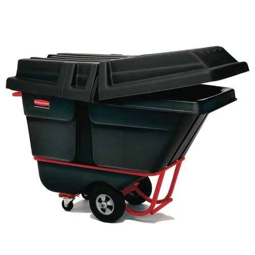 2 Cubic Yard Tilt Truck, Standard Duty, 1900 lb. Capacity, Black