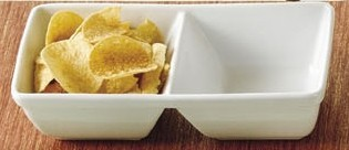 "CAC China CN- Rectangular 3-Compartment Tasting Tray 10"" x 5 1/2"" x 2 5/8"""