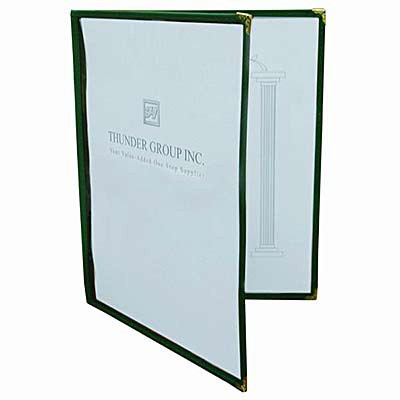 2 Fold Clear Menu Cover - Holds 8.5