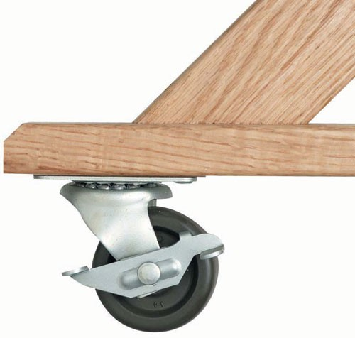 Aarco Products C-44 2 Locking and 2 Non-locking Rubber Wheel Casters