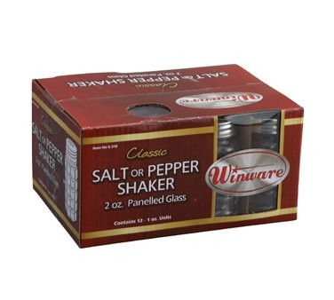Winco G-318 Classic Shaker 2 oz. with Stainless Steel Flat Top