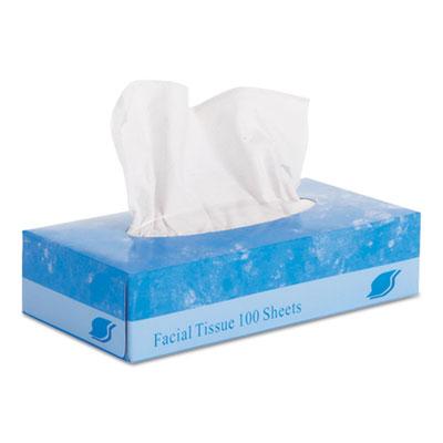 2-Ply White Facial Tissues, 30 Boxes/Carton