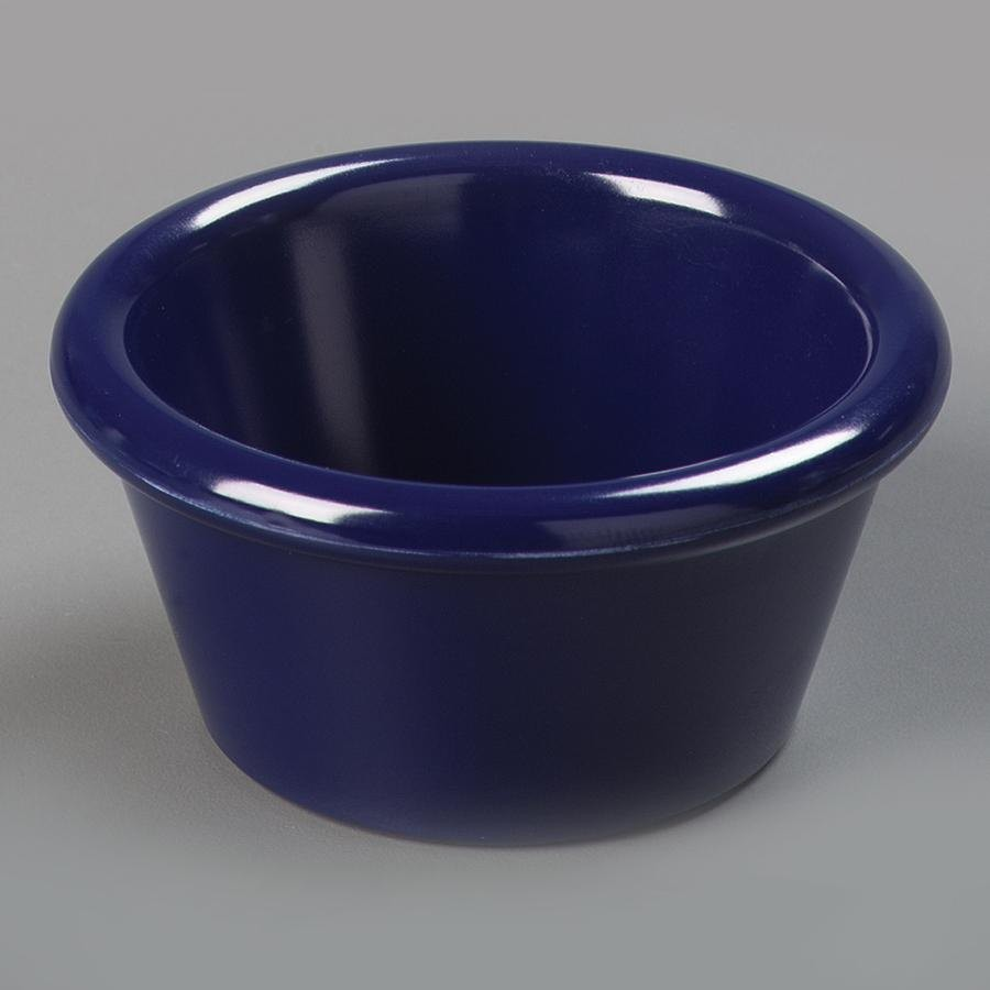 2 oz. Plain Plastic Ramekin (Navy Blue)