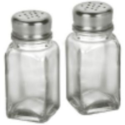 Anchor Hocking 90079 2 oz. Square Salt & Pepper Shaker