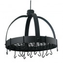"Old Dutch International 102GU Dome Graphite Pot Rack with Grid, 16 Hooks, 20"" x 15 1/4"" x 21"""
