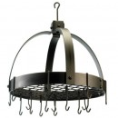 "Old Dutch International 102BZ Dome Oiled Bronze Pot Rack with Grid, 16 Hooks, 20"" x 15 1/4"" x 21"""