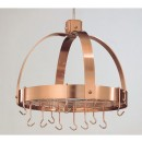 "Old Dutch International 102CP Dome Satin Copper Pot Rack with Grid, 16 Hooks 20"" x 15 1/4"" x 21"""
