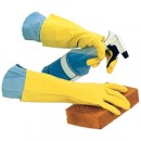 20 Mil Yellow Flock Lined Latex Glove (Dozen)