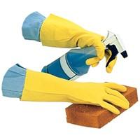 20 Mil Yellow Flock Lined Latex Glove (Dozen)