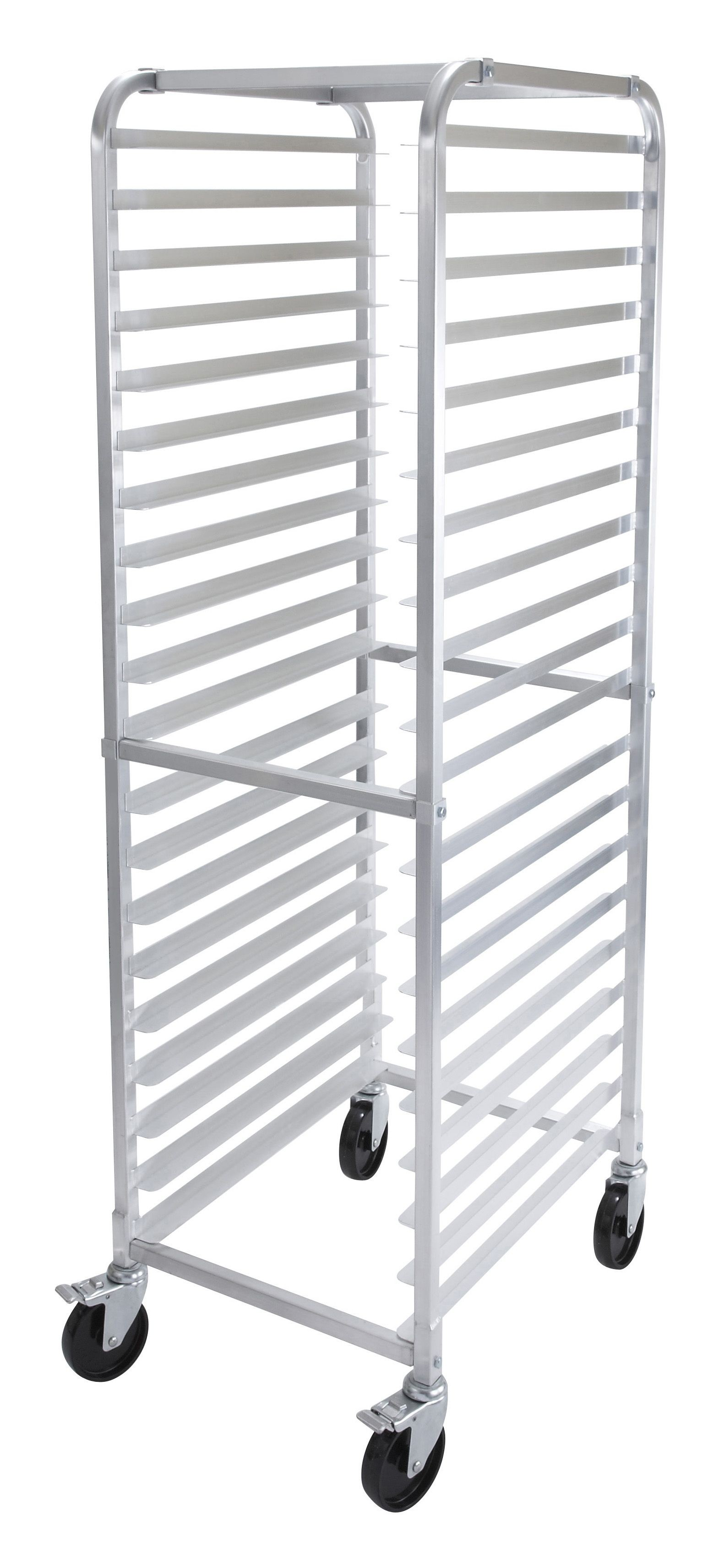 20 Tier Aluminum Rack W/Brake (NSF)