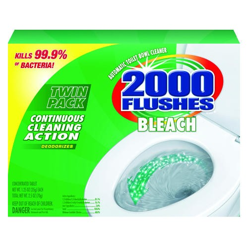 2000 Flushes, Concentrated Tablet, 1.25 Oz, Twin Pack