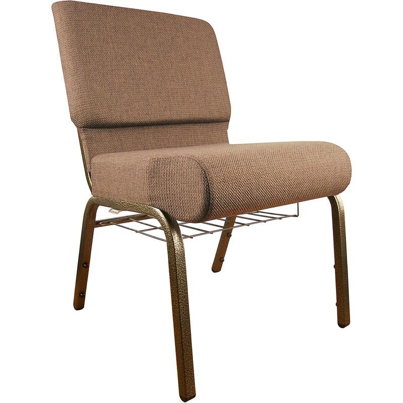 """Flash Furniture FD-CH0221-4-GV-005-BAS-GG Hercules Series 21"""" Extra Wide Plum Church Chair/Gold Vein Frame"""