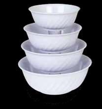 "Imperial Melamine Swirl Bowl, 21 Oz, 6"""