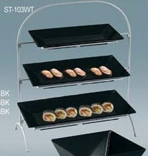 """Yanco ST-103WT Rome 3 Tier White Display Stand 22 1/2"""" x 19"""" x 9 1/2""""for RM-212/214/218"""