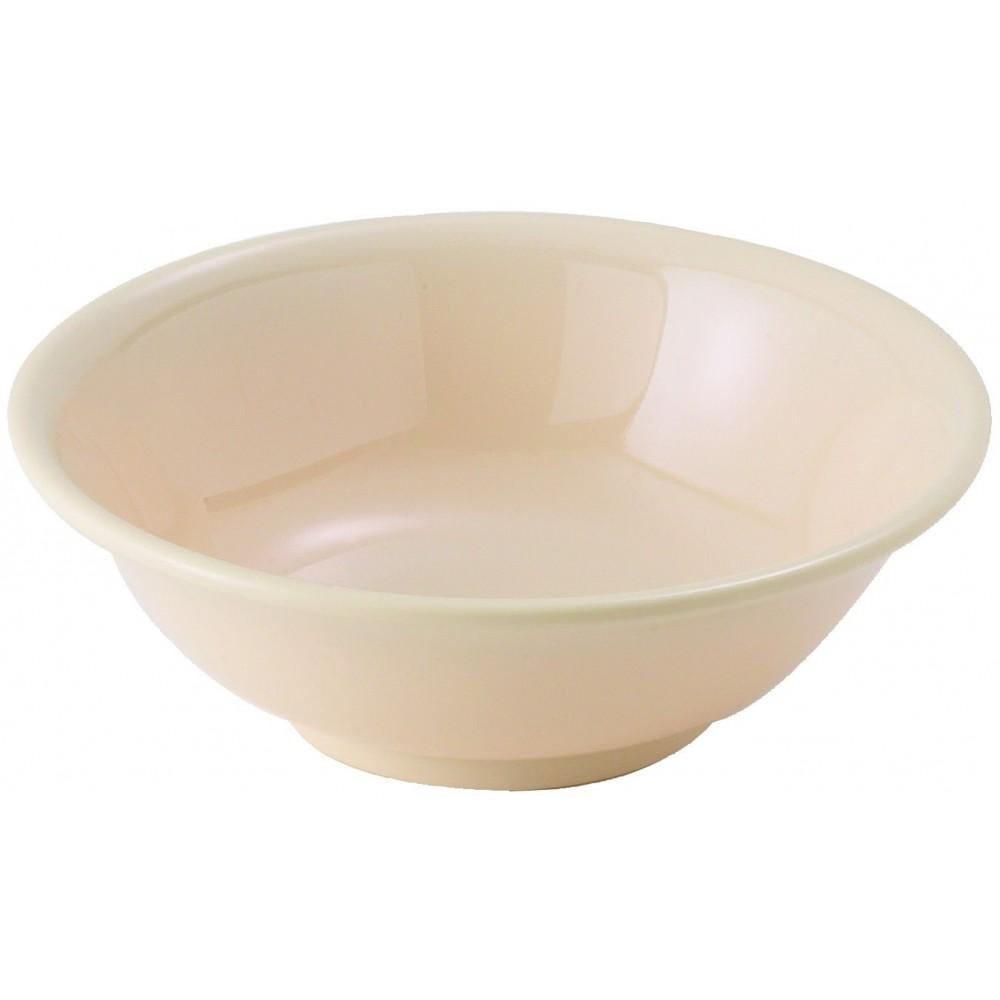 Winco MMB-22 Tan Melamine Rimless Bowl, 22 oz.