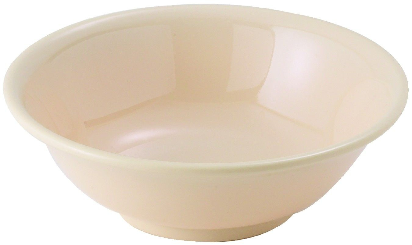 Winco MMB-22 Tan Melamine Rimless Bowl, 22 oz.
