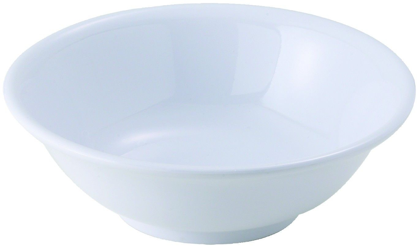 22Oz Rimless Bowl, White, 6 7/8