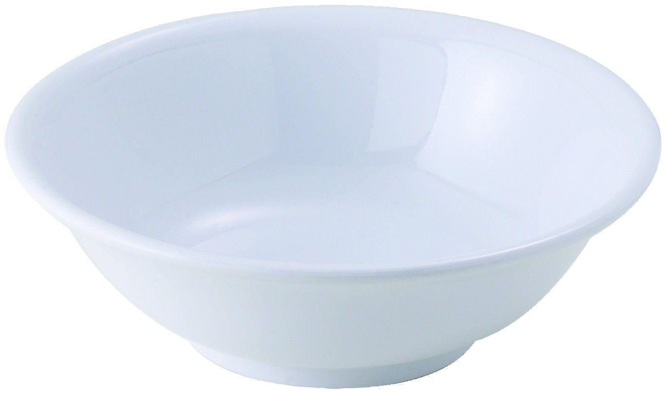 Winco MMB-22W White Melamine Rimless Bowl 22 oz.