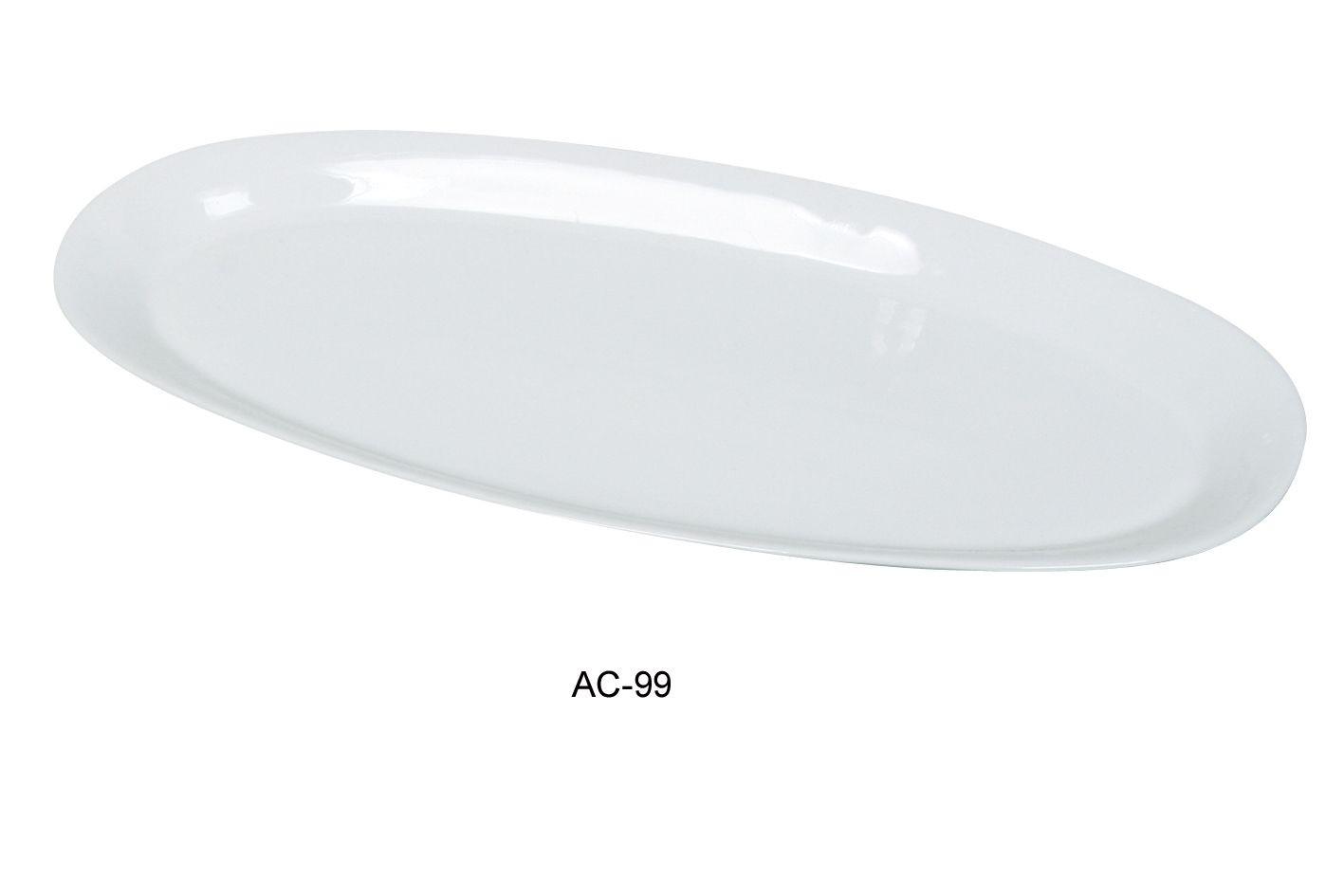 "Yanco ac-99 Abco 23"" x 10 1/4"" x 2"" Fishia Platter"
