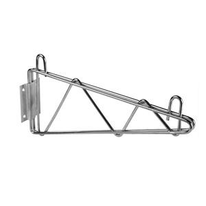 "Thunder Group WBSV024 Chrome Single Wall Shelf Mounting Bracket 24"""