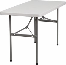 Flash Furniture RB-2448-GG 24''W x 48''L Granite White Plastic Folding Table
