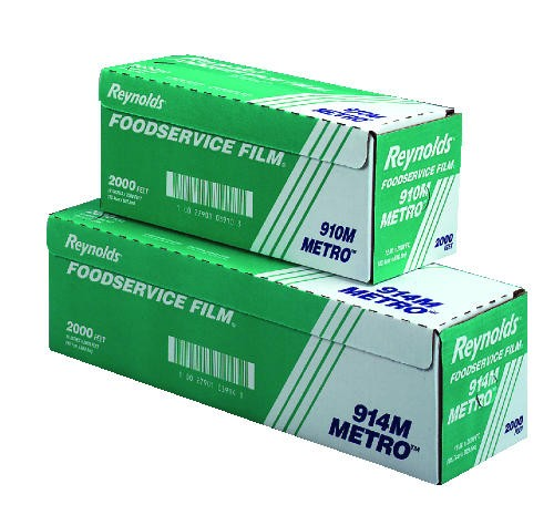 24 X 2000' Food Service Clear Film Roll Metro Line with Cutter Box