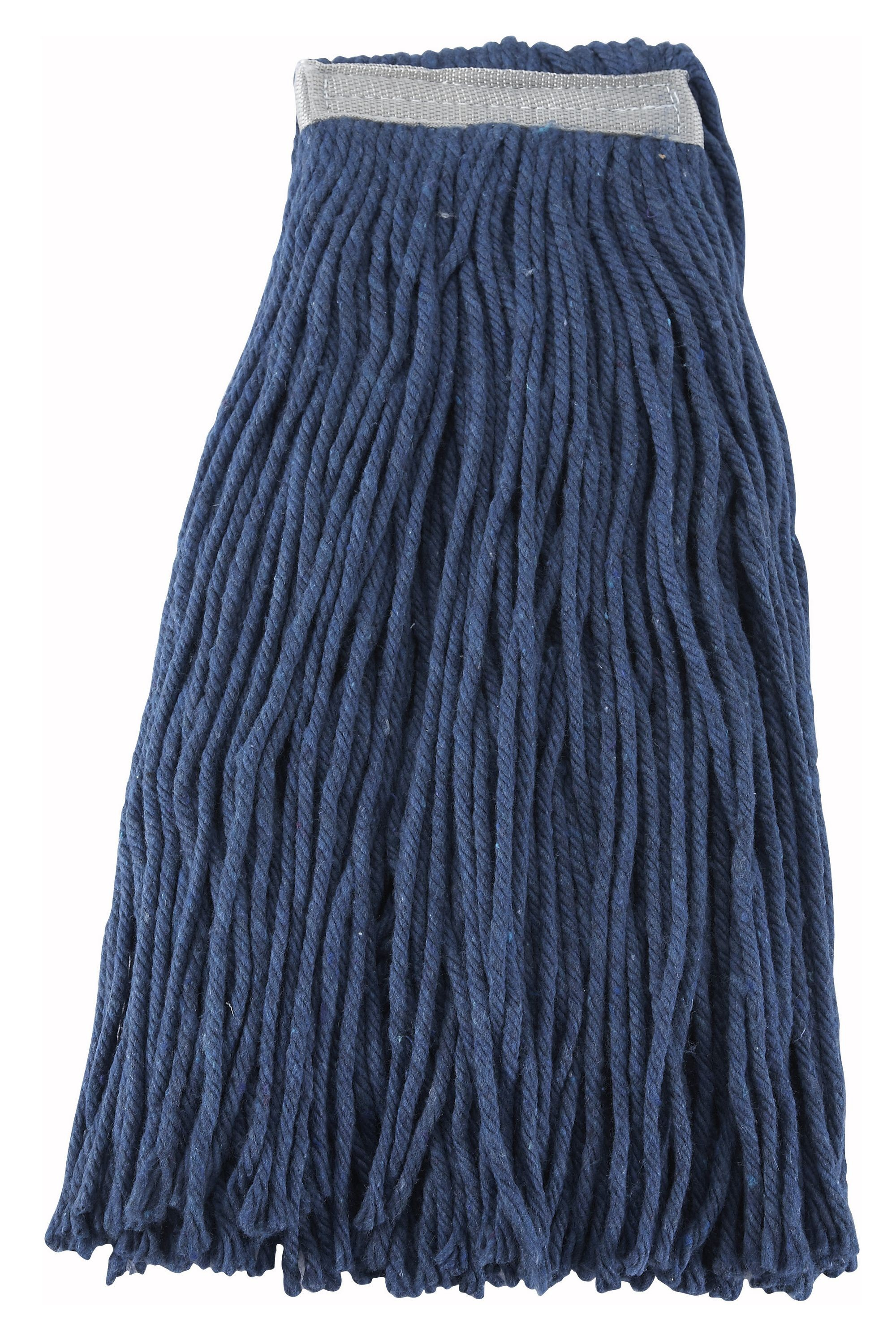 Winco mop-24c Premium Blue Yarn Mop Head, Cut Head 600g, 24 oz.
