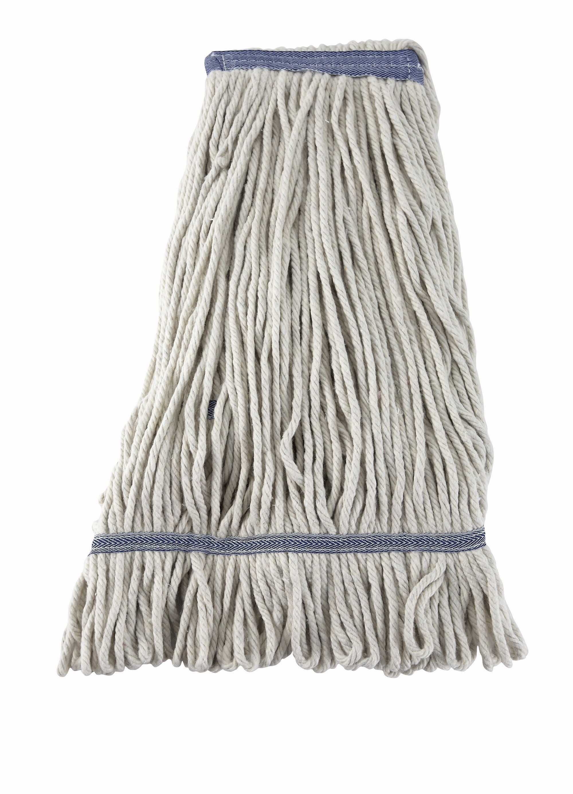 Winco MOP-24W White Yarn Looped-End Wet Mop Head 600g 24 oz.