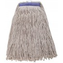 Winco MOP-24WC White Yarn Mop Head, Cut Head 600g, 24 oz.
