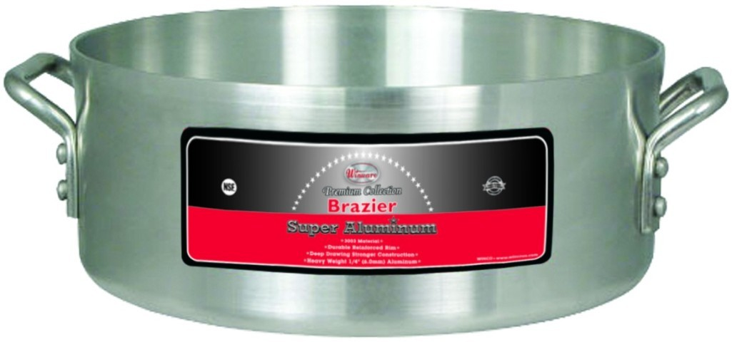24 Qt Super Aluminum Brazier (6.0 mm)