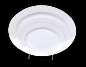 "Thunder Group 2114TW Imperial Melamine Deep Platter, 28 oz., 14-1/8"" x 10-5/8"""