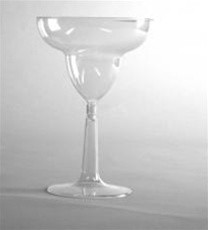 2Pc Plas Margarita Glass12Oz 8/12