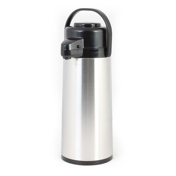Thunder Group ASPG030 Glass Lined Stainless Steel Airpot with Push Button 3.0 Liter