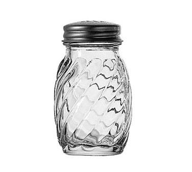 Anchor Hocking 39122 3.25 oz. Swirl Glass Salt / Pepper Shaker