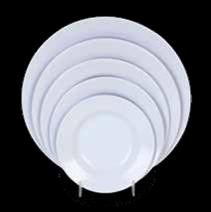 Thunder Group 1106TW Imperial Melamine Soup Plate 3 oz.