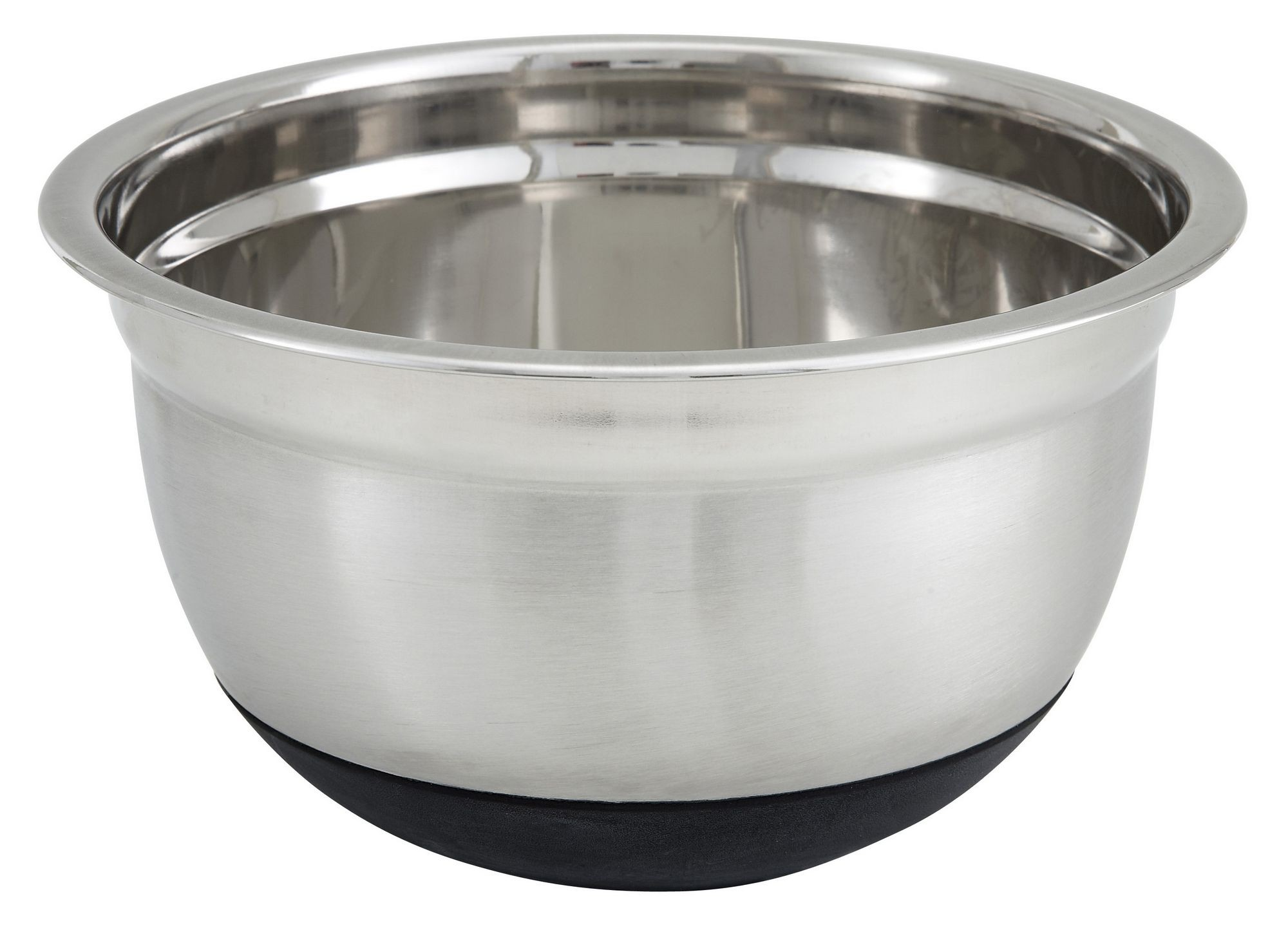 Winco MXRU-300 German Mixing Bowl 3 Qt. with Silicone Base