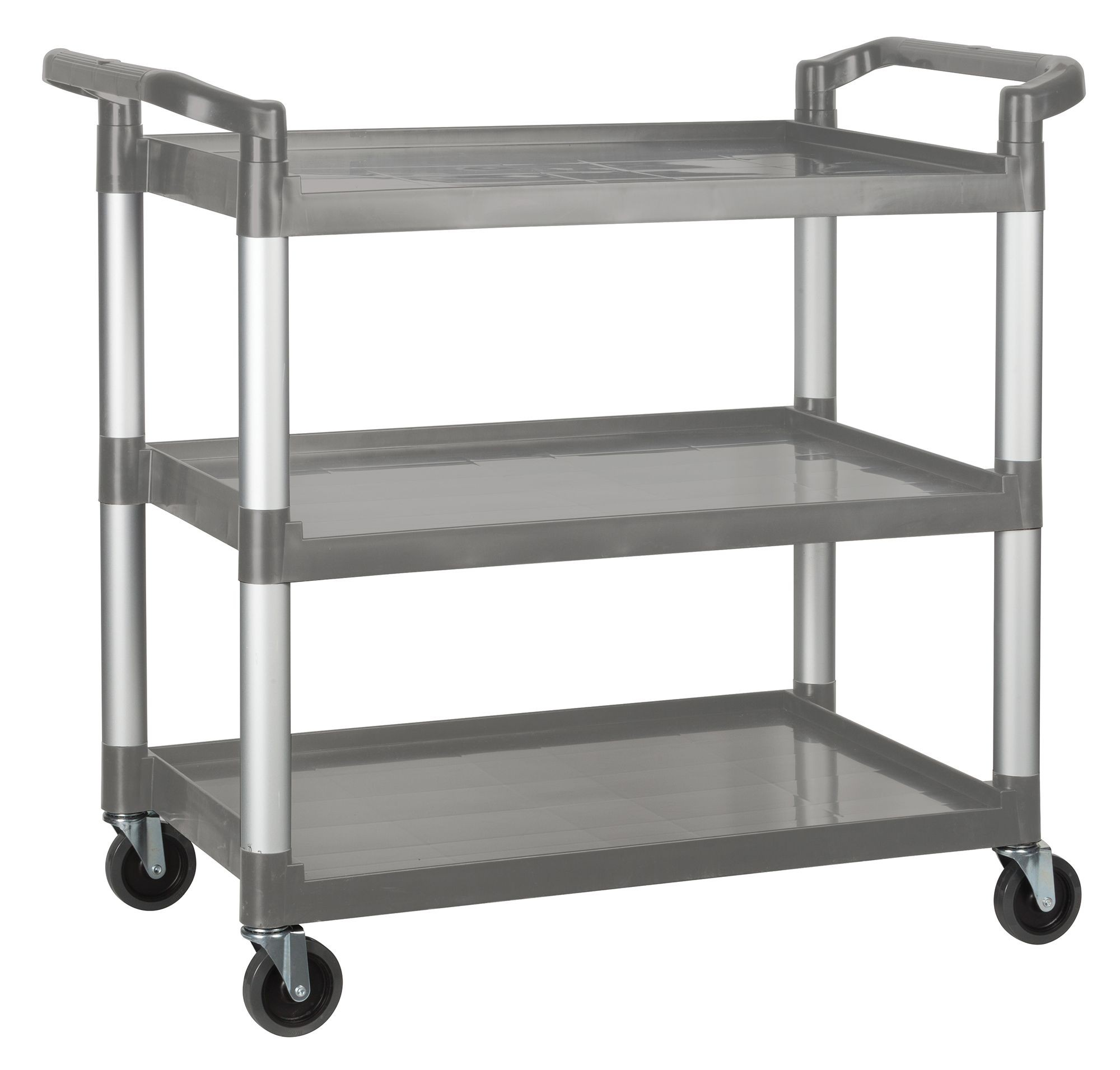 "Winco uc-40g 3 Tier Gray Utility Cart 40"" x 19-3/4"" x 37-1/2"""