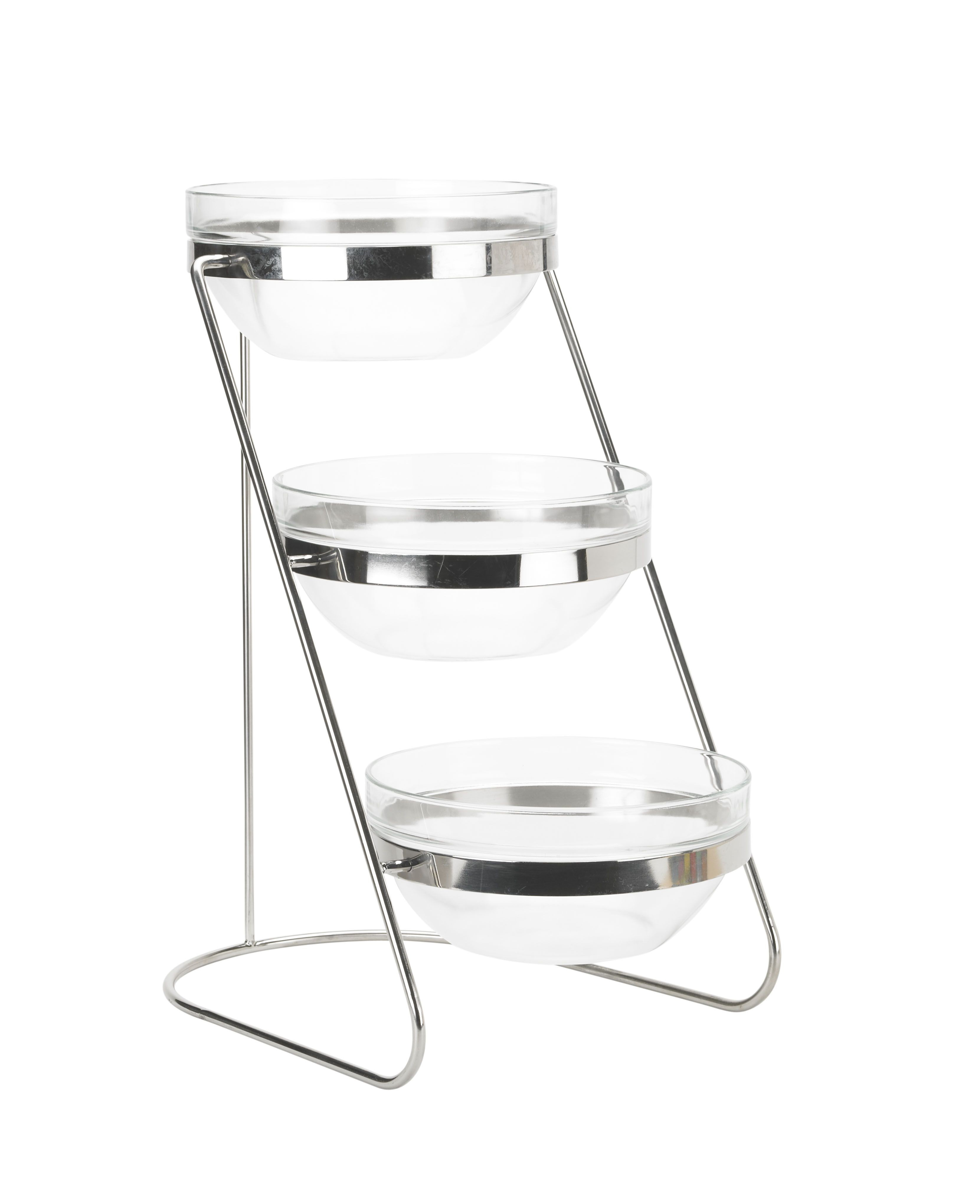 Winco tds-3 Tier Glass Bowl Display Set