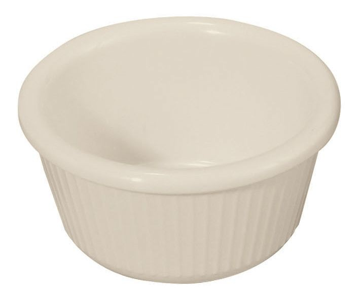 3 oz. Fluted Plastic Ramekin (Bone)