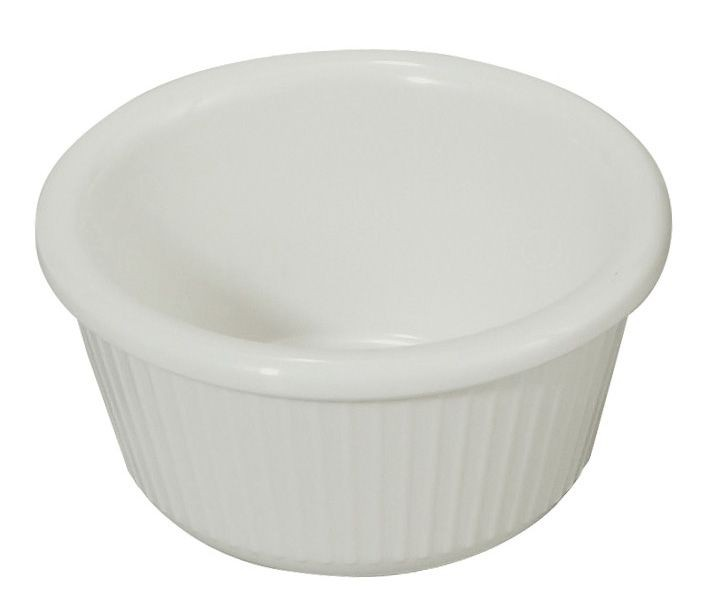 3 oz. Fluted Plastic Ramekin (White)