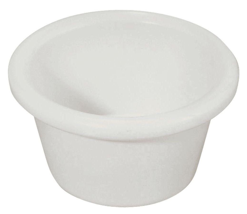 Winco RP-3W 3 oz. Plain White Melamine Ramekin