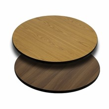 Flash Furniture XU-RD-30-WNT-GG 30'' Round Table Top with Natural or Walnut Reversible Laminate Top
