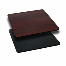 30'' Square Table Top with Black or Mahogany Reversible Laminate Top