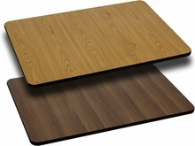 Flash Furniture XU-WNT-3042-GG 30'' x 42'' Rectangular Table Top with Natural or Walnut Reversible Laminate Top